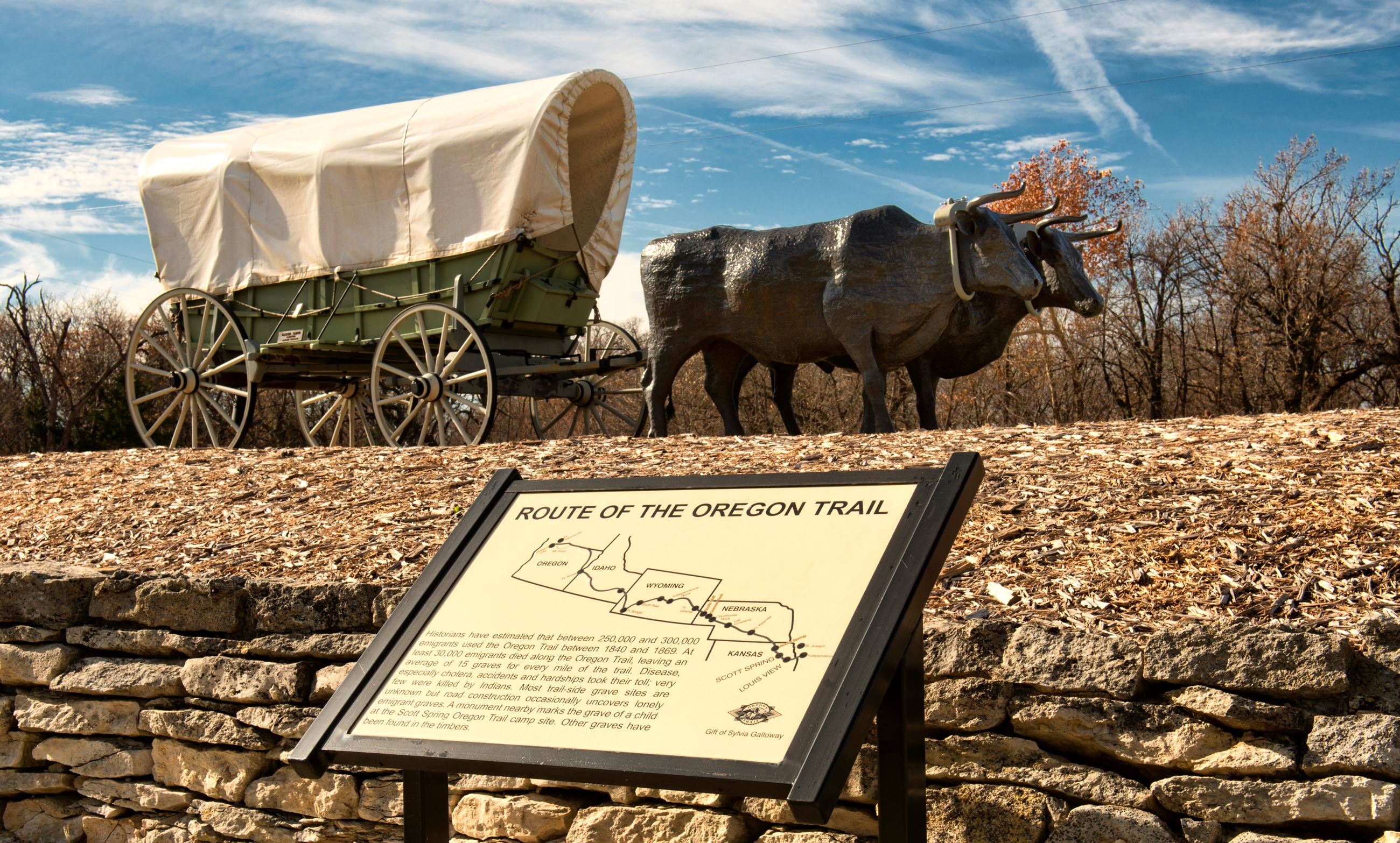 Oregon Trail Sign in Westmoreland