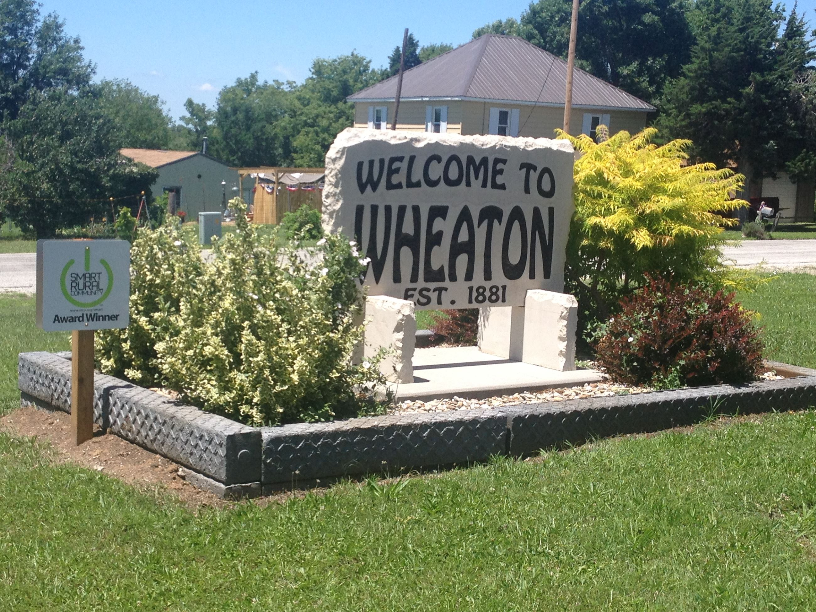 Wheaton Stone Sign