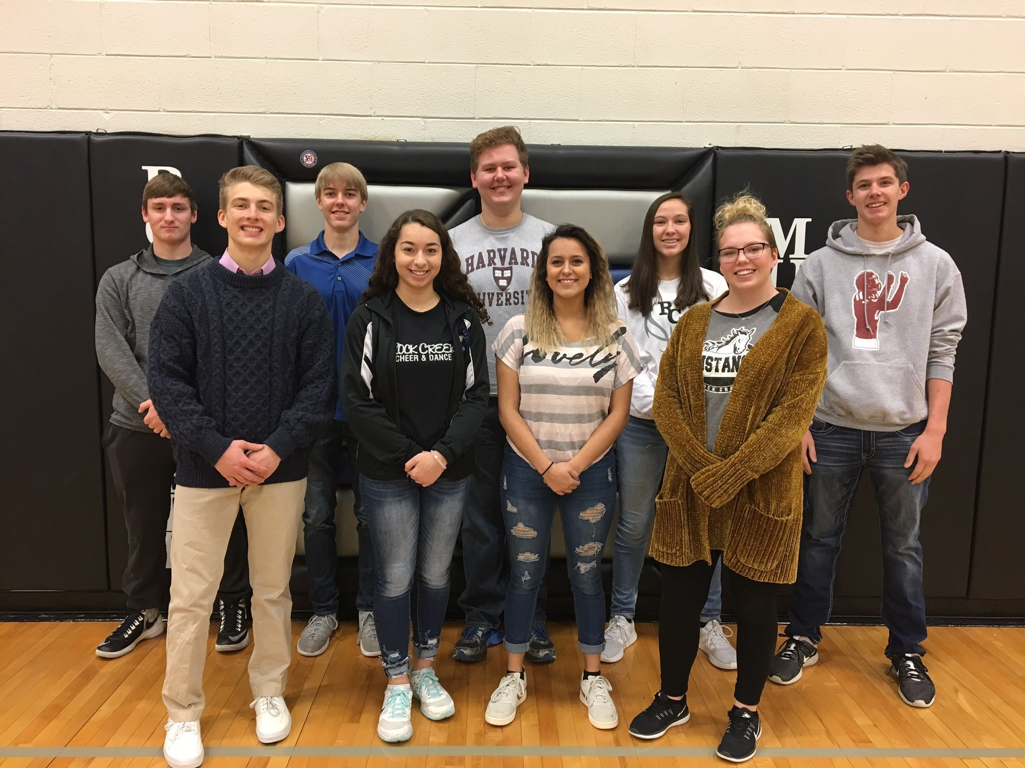 Rock Creek High School Work Keys Platinum Certificate Members