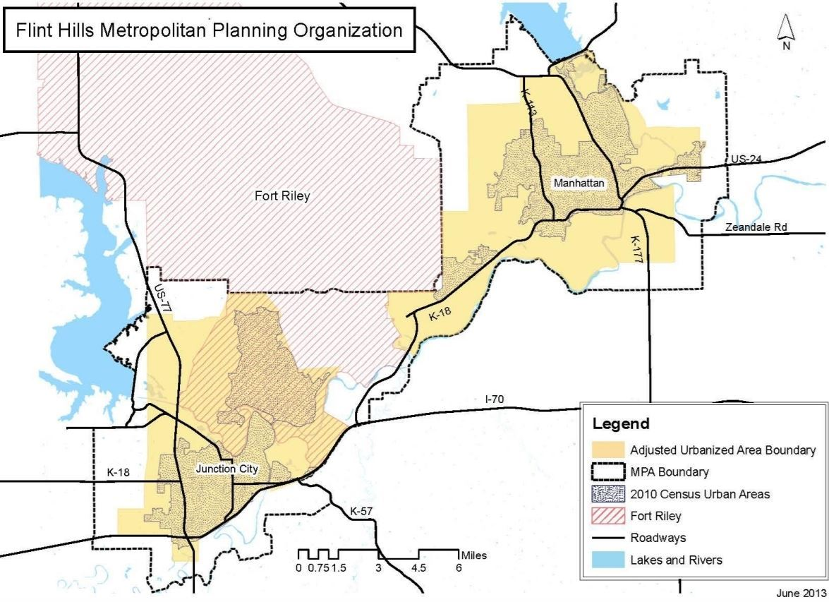 Flint Hills Metropolitan Planning Organization Map