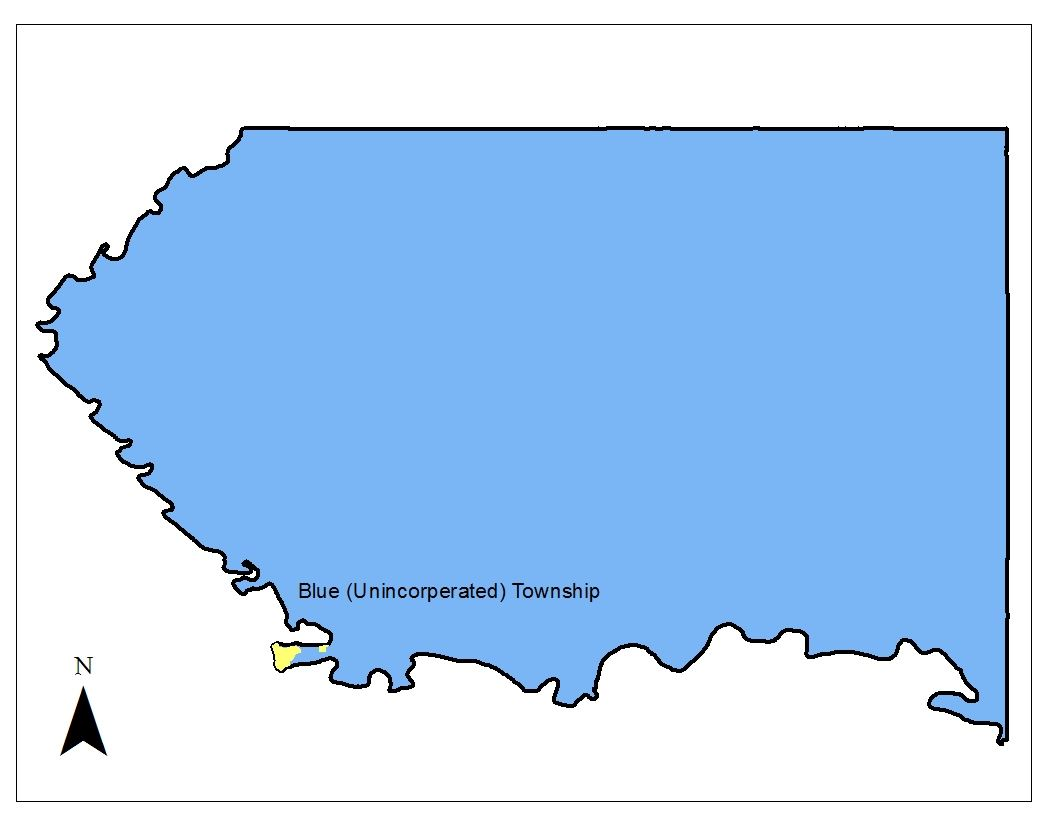 Blue Township Map Outline