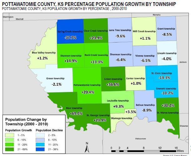 Growth by Township map